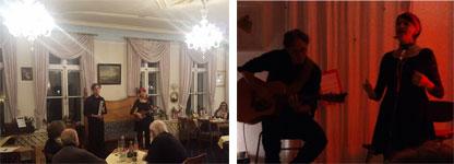Musique in Aspik bei der königlichen offenen Bühne und im Erotischen Salon